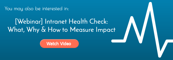 Intranet Health Check - Large Blog Banner