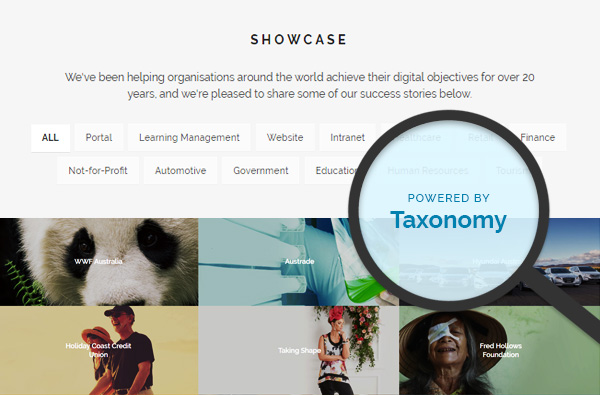 Elcom Website Redesign Taxonomy Feature