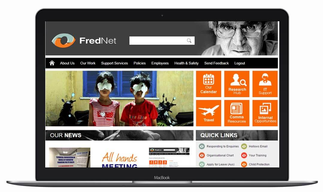 The Fred Hollows Foundation Intranet Showcase