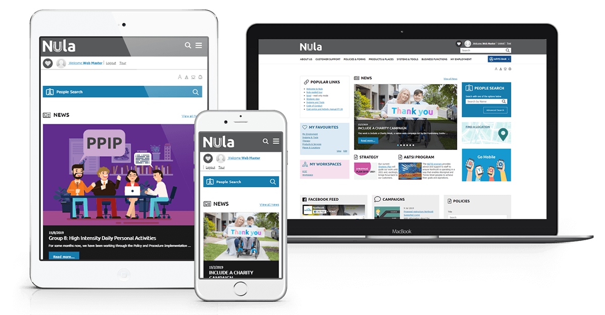 Northcott Responsive Intranet