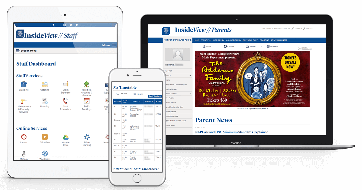 Saint Ignatius Riverview Responsive School Portal