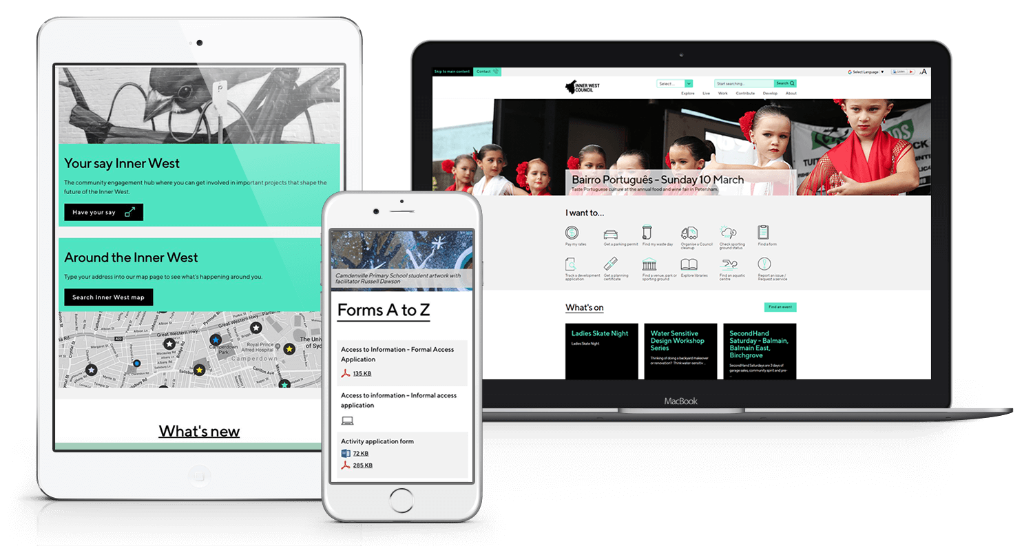 The Inner West Council Responsive Website Solution