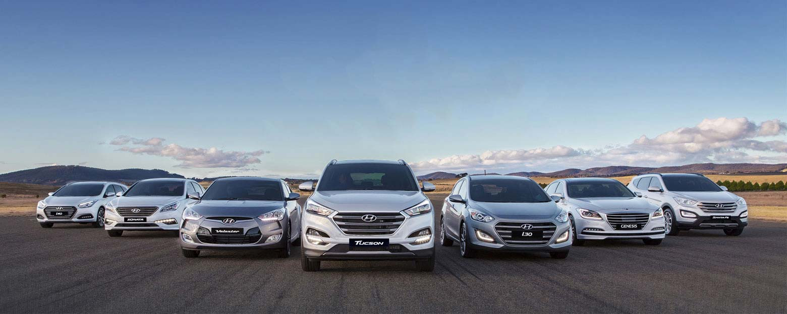 Hyundai Fleet of Cars