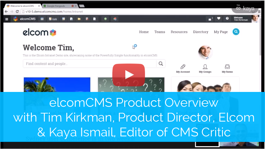 elcomCMS Product Overview CMS Critic Image