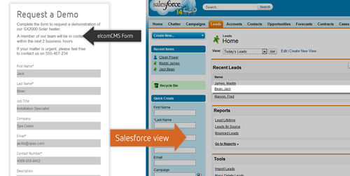 Salesforce_elcomCMS Integration