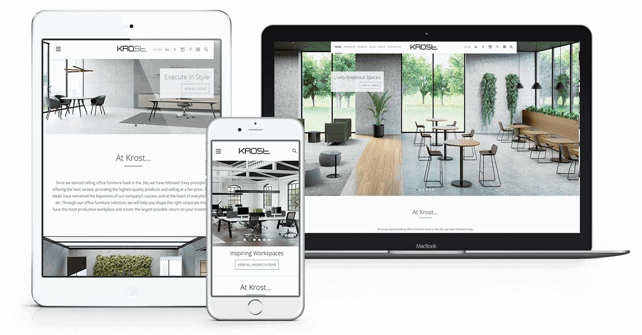 Krost Business Furniture - Responsive Website